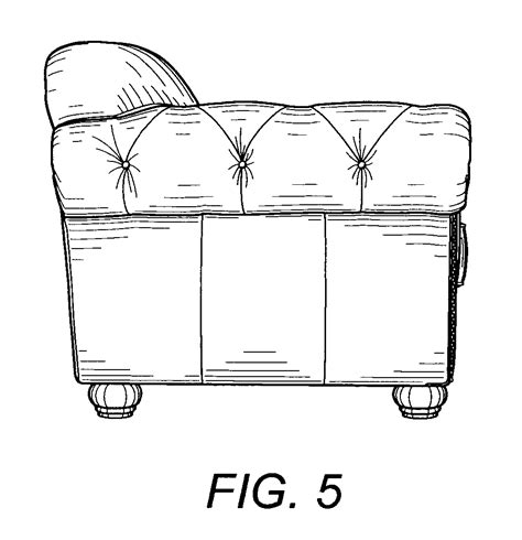 elevation of sofa patent usd520773 sofa google patents