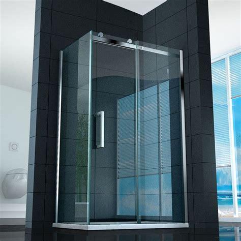 piatto doccia 75x110 box doccia anta scorrevole 8 mm con vetro trasparente fum 232