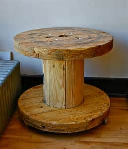 Industrial wood wire spool covet consign amp design