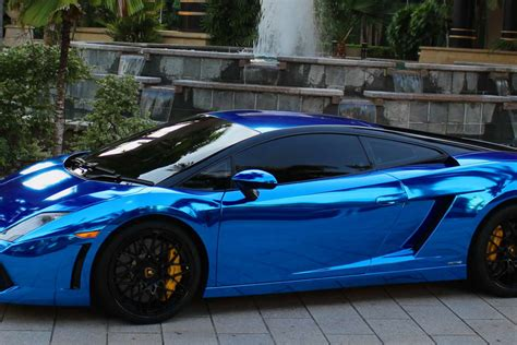 Verchromtes Auto by Blue Chrome Car Wrap Www Pixshark Images Galleries
