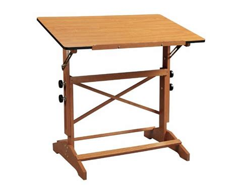 Alvin Pavillon Cherry Wood Drafting Table Ap436 Wbr Wooden Drafting Tables