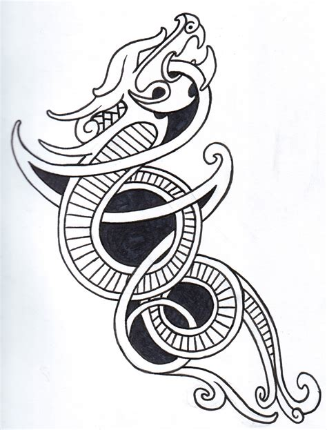 dragon tattoo outline designs viking tattoos designs ideas and meaning tattoos for you