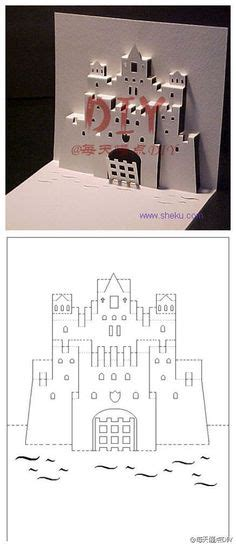 how to make a pop up castle card ch 226 teaux chevaliers castles knights on