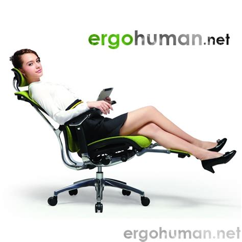 Ergo Chair Nefil Mesh Office Chair With Polished Frame Ergohuman