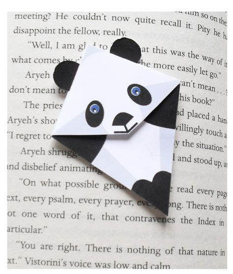 origami bookmark panda 1000 images about origami on crafting