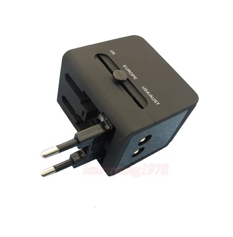 Universal Travel Dual Usb 2100mah travel universal power adapter charger socket au eu us uk dual usb port ebay