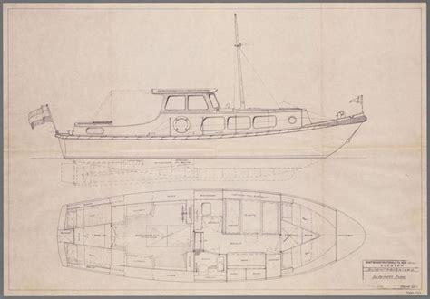 gillesen vlet scheepsbouwtekening van een motorboot een gillissen vlet