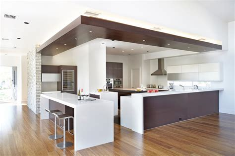 drop ceiling lighting kitchen modern with breakfast bar