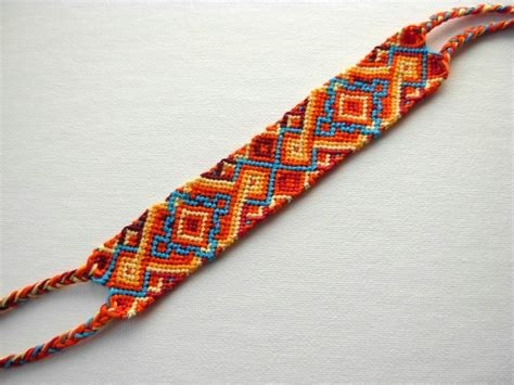 Handmade Friendship Bracelet - friendship bracelet handmade cotton orange macrame wristband
