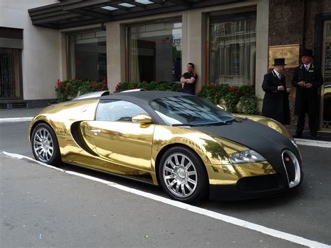 Bugatti Veyron Gold And