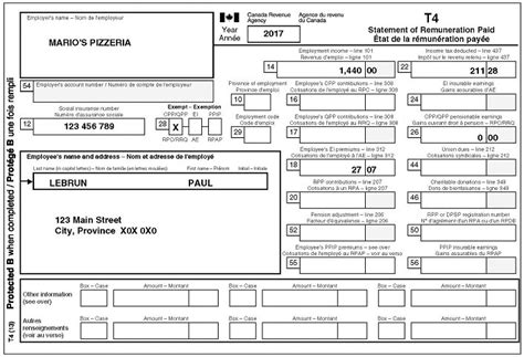 your t4 information slip canada ca