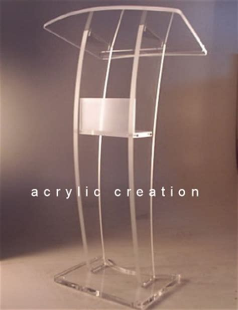 Podium Akrilik Mimbar Akrilik Acrylic Lectern Pd02 acrylic akrilik acrylic display harga acrylic jual acrylic