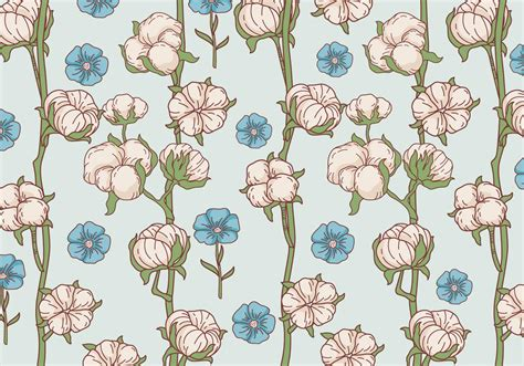 pattern flowers vector cotton flower pattern vector download free vector art