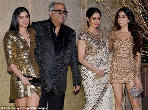 sridevi with her husband huusband of tragic bollywood star sridevi pays tribute