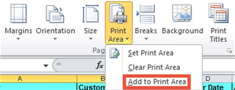 printable area change microsoft excel 2010 clear print area canu0027t set