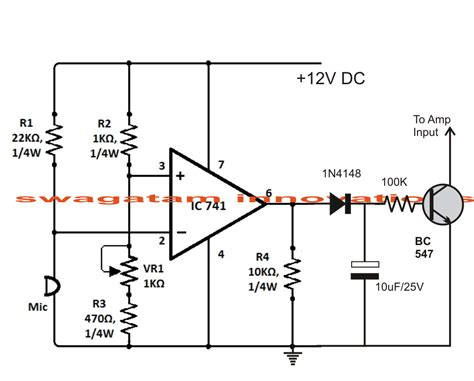 transistor lifier with volume sound activated automatic lifier mute circuit