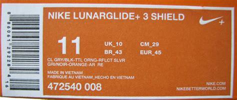 nike shoe box label template nike lunarglide 3 shield review solereview