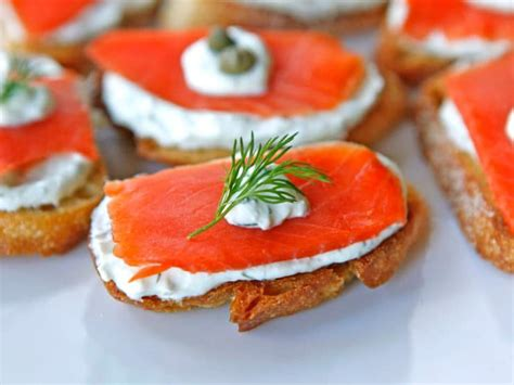 Greek Main Dishes - smoked salmon crostini easy lox appetizer recipe