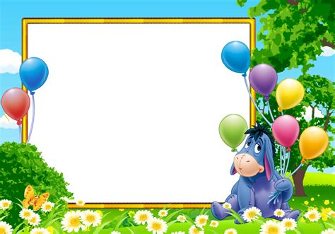 imagenes de winnie pooh en alta resolucion eeyore from winnie the pooh kids transparent photo frame