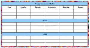 Student Schedule Template by 6 Student Schedule Template Memo Formats