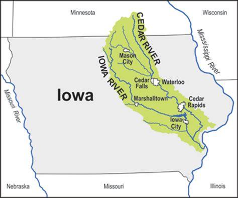 map of iowa rivers iowa cedar watershed interagency coordination team