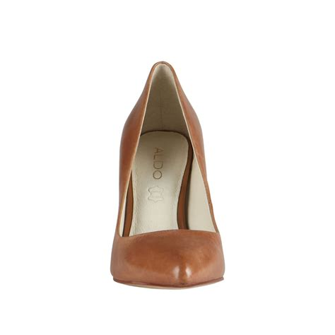 office hot stuff pointed court shoes aldo agriria pointed toe court shoes in brown lyst