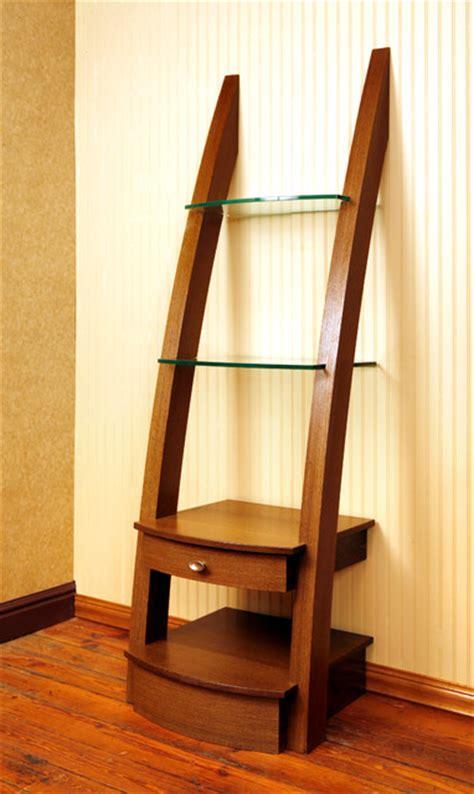 Glass Ladder Shelf by Ladder Shelf Other Metro By