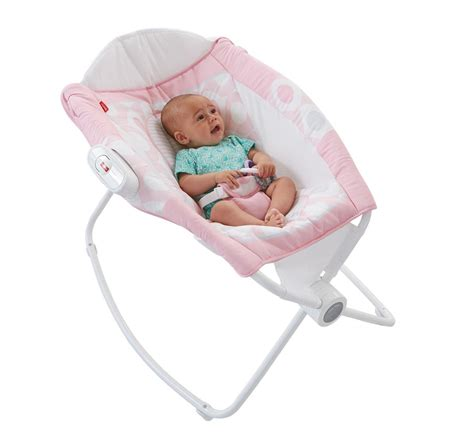 White Newborn Sleeper by Fisher Price Rock N Play Sleeper Pink