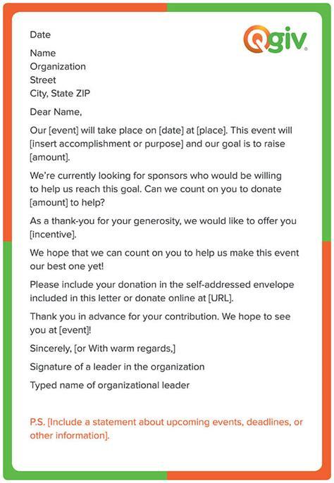 sponsorship letter template free invitation letter for sponsoring