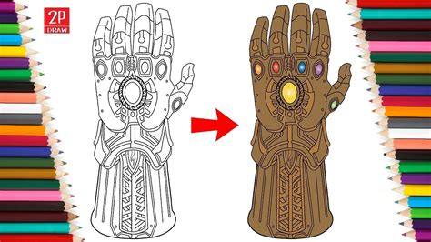 How To Draw Thanos Infinity Gauntlet thanos gauntlet drawing www topsimages