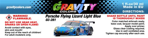 Gc Blue Light porsche flying lizard light blue gravity colors