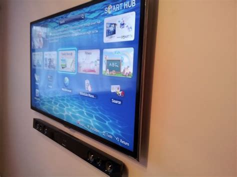 samsung wall tv samsung tv wall mounted with soundbar tv wall mounting by home av samsung tvs