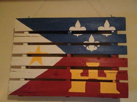 pallet acadian flag of cajun louisiana for the home
