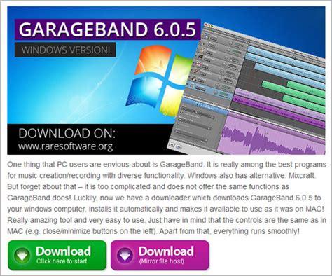 garageband for windows free download free download garageband for pc windows xp 7 8