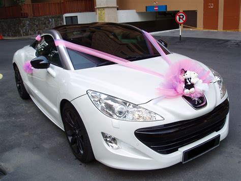 peugeot pink peugeot rcz pink decorations bridal car car