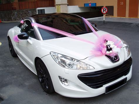 Peugeot RCZ   Pink Decorations ~ Bridal Car. Car