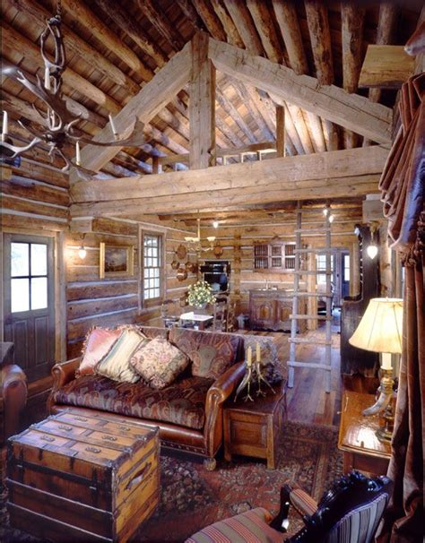 Small Log Home Interiors by Small Cabins Cabin And Loft On