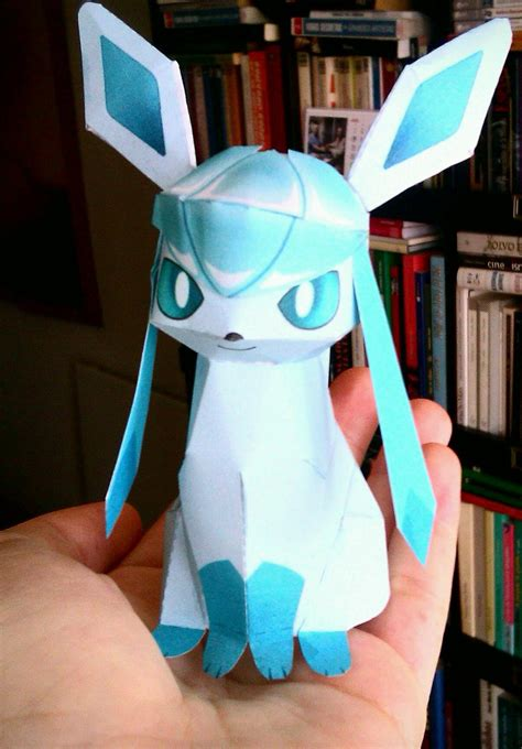 Glaceon Papercraft - my glaceon by me papercraft by ladyedile on deviantart