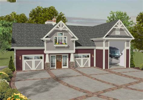 rv carriage house plans rv garage with observation deck 20083ga 2nd floor master suite cad available
