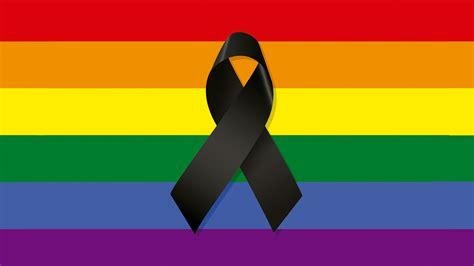 imagenes de luto bandera de colombia bandera gay con lazo de luto por las v 237 ctimas de orlando