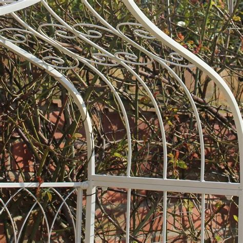 metal garden pergola ivory metal garden pergola bench melody maison 174