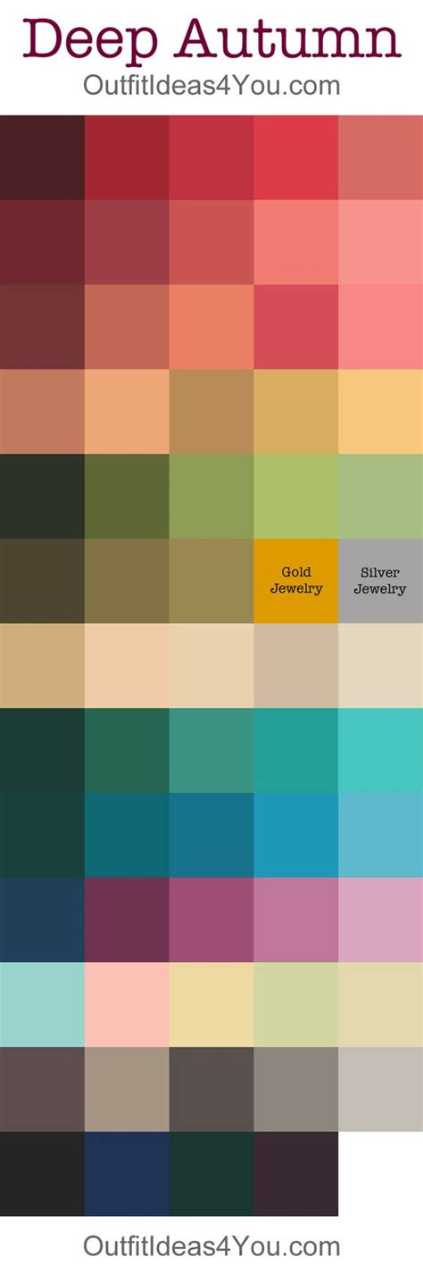 deep autumn color palette pinterest the world s catalog of ideas