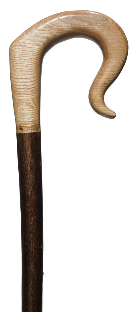 Handmade Shepherds Crooks - carved shepherds crook with ash handle on hazel