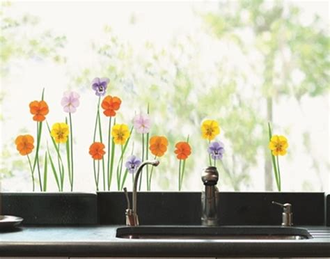 Fenster Sticker Herbst fenstersticker wiesenblumen kaufen