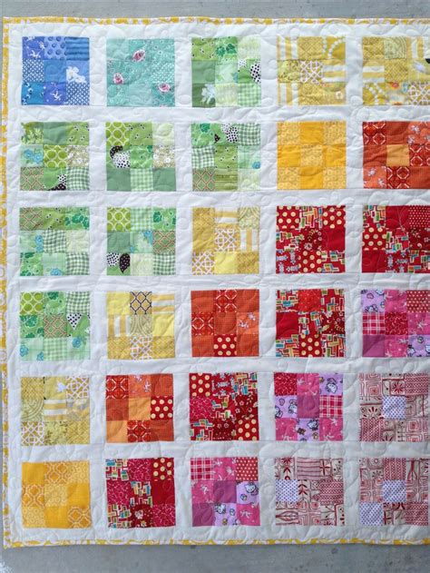 Mini Quilts Using 2 5 Inch Squares Using 2 Inch White Strips To Separate The Blocks 1 5 5 Inch Square Quilt Template