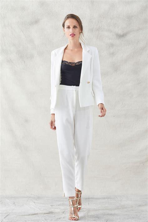 trajes de cuero para mujer traje chaqueta blanco para mujer chaquetas de moda para