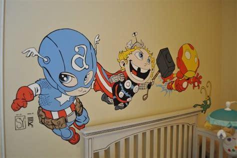 cute baby avengers vinyl decals art adorable kids