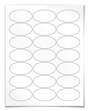 oval label templates oval labels for laser and inkjet printing