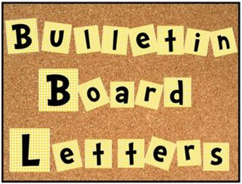 Letter Templates For Bulletin Boards free bulletin board alphabet and numbers set