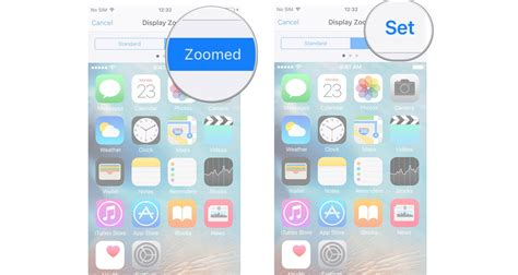 how to make icons and text larger with display zoom for iphone imore